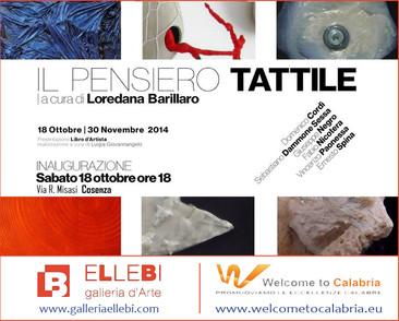 Il Pensiero tattile - Galleria d'arte Ellebi di Cosenza