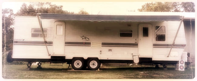 Starcraft travel trailer, Evangelist Joshua Lancaster, Draw Nigh to God, Pray America Ministries
