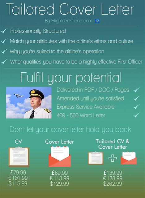 Cover letter for cadet pilots