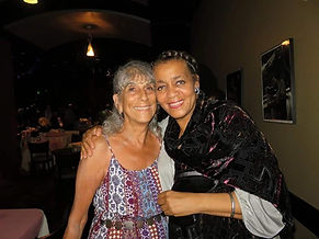 Poet Judy Barrat and performer Linda A. (Smith)