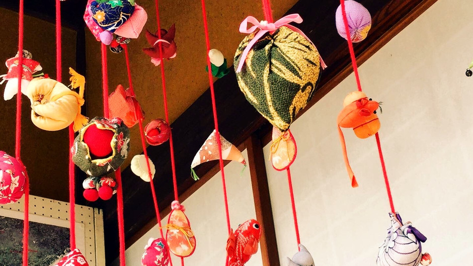 A cultural property with hanging wishes