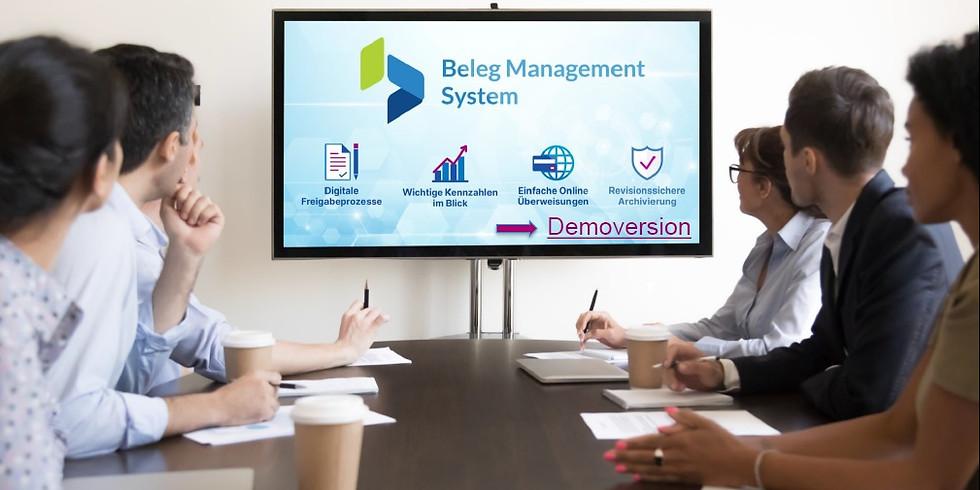 Konstenloses Online-Seminar Beleg Management System von consoltura