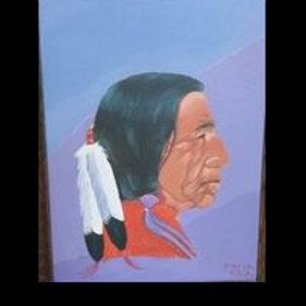 Ben Black Elk Painting - Paha Ska