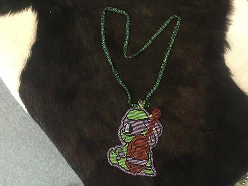 Beaded Ninja Turtle Medallion