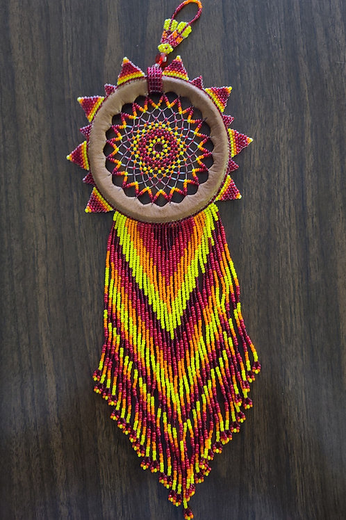 Leather and beads Dream Catcher