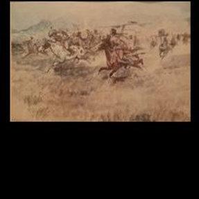 Fight Between Blackfeet & Pigeons - Charles Russlee