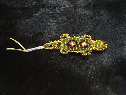 Green Beaded Amulet