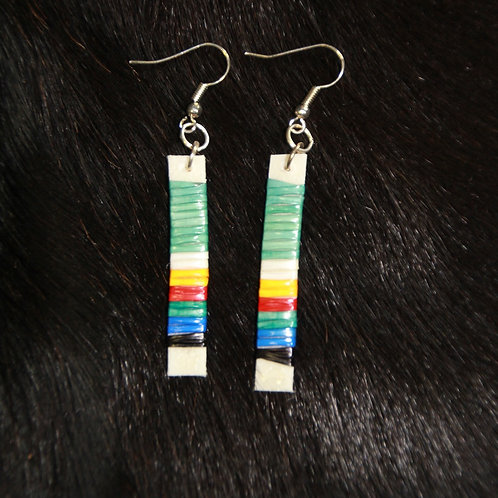 Colorful Stick Straight Quilled Earrings