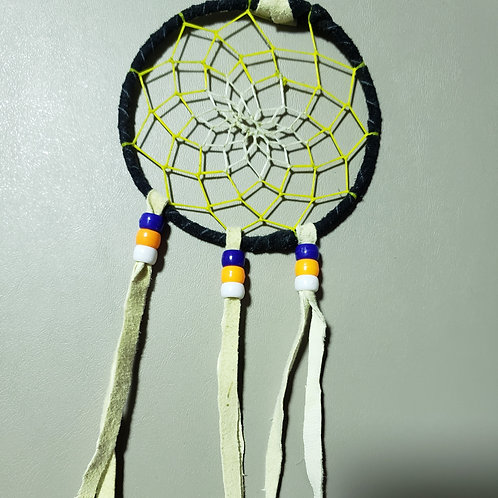Dream Catcher with leather fringe