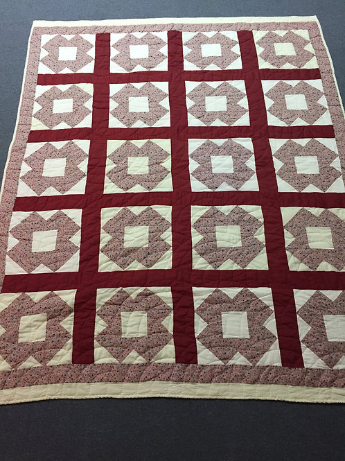Shades Wine Block Quilt - Full Size