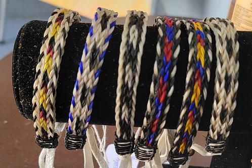 Horse Hair Bracelets  by Llewellyn Long Wolf