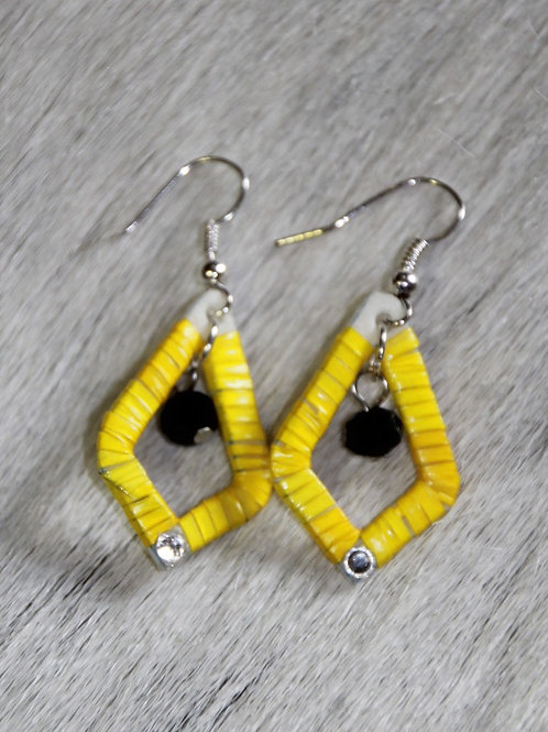 Yellow Quill Earrings