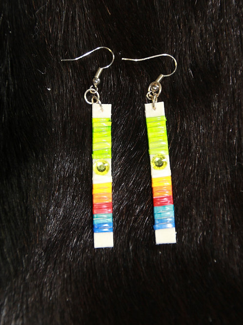 Colorful Gem Stick Straight Quilled Earrings
