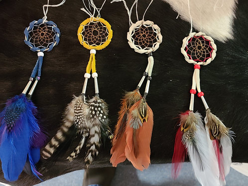 Small Dream Catcher with various color plumes