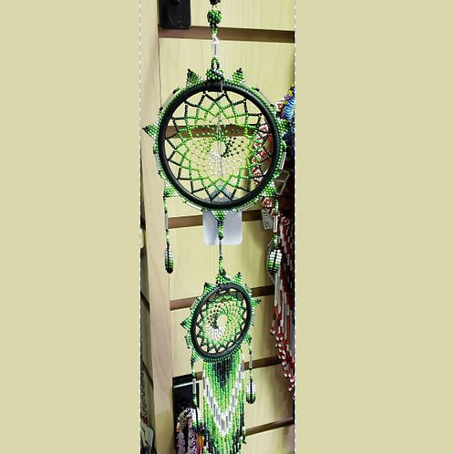Dual Dream Catcher - Green