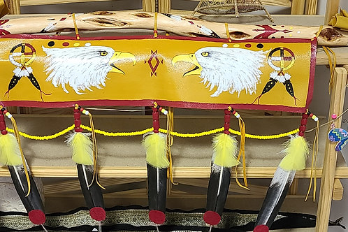 Painted Staff featuring the Eagle (wanbli) - by Ed Roubideaux