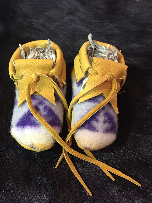 Cloth & Leather Baby Moccasin