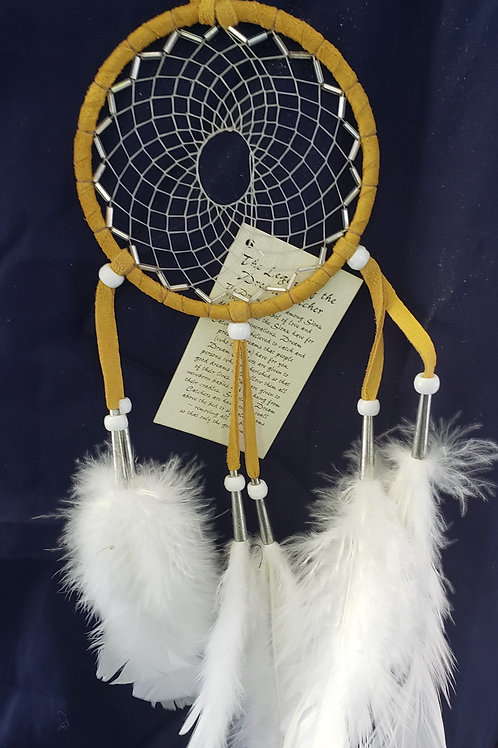 Dream Catcher with bright colored plumes in various colors