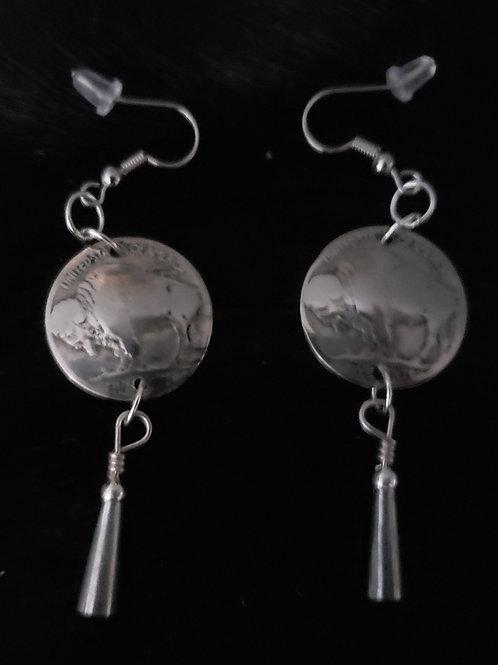 Buffalo Nickel Earrings