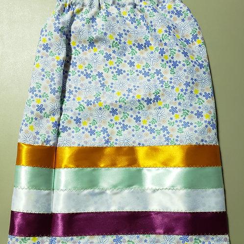 Bright Floral Youth Ribbon Skirt