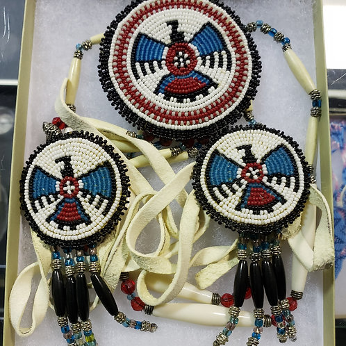 Beaded Medallion and Hair ties