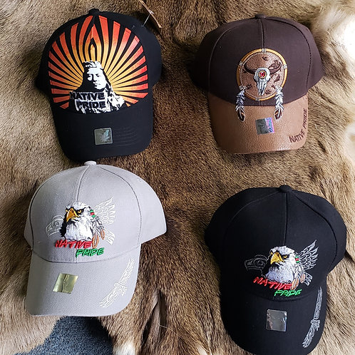 Ball Cap with various Native American Designs