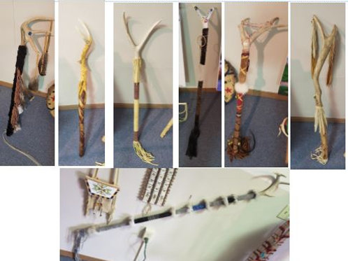 Various Staffs/Walking Sticks