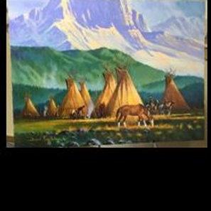 Native Camp - Daniel Long Soldier