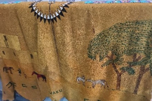 Buffalo Hide with Beadwork