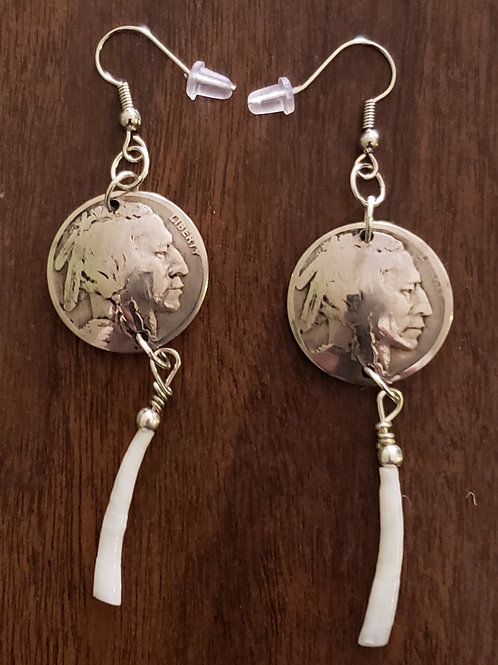 Indian Head Nickel Earrings