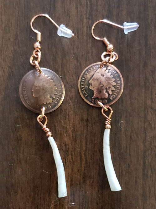 Indian Head Penny Earrings