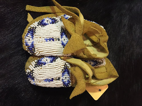 White Beaded Baby Moccasin