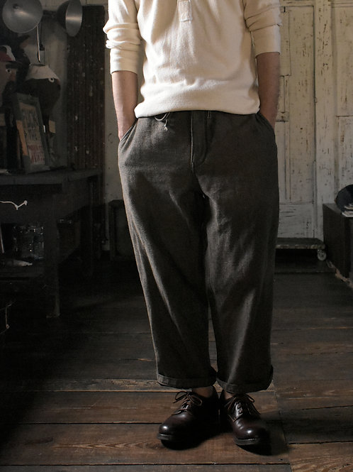 11oz Selvage Denim Back side Work Trousers