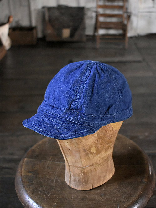 Indigo Cotton Linen Cap