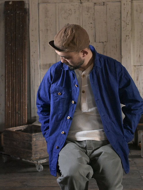 10 oz selvage denim Coverall Jacket Navy Blue dye