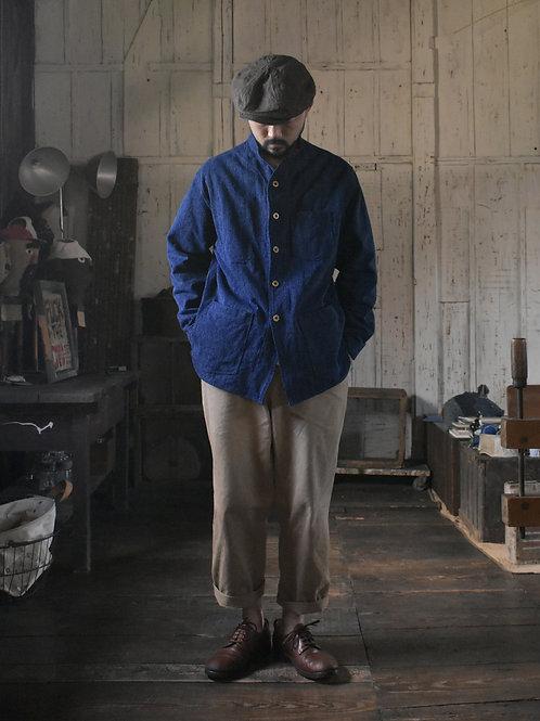 Japanese Indigo Sashiko-ori Jacket (L)