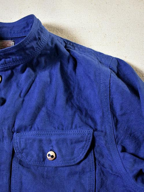 10 oz selvage denim Stand Collar Jacket Navy Blue dye
