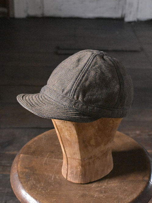 Brown cotton denim Cap