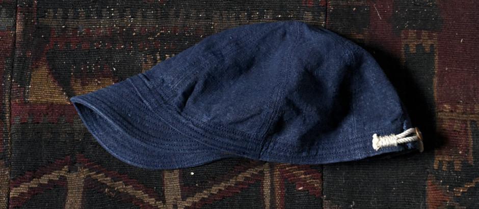 Indigo Linen Cap , Hat , Casket
