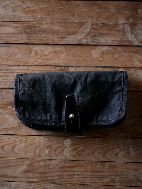 "Canvas Wallet ""202"" Black dyed"