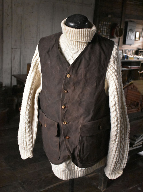 "Work vest ""20"" Dark Brown dyed"