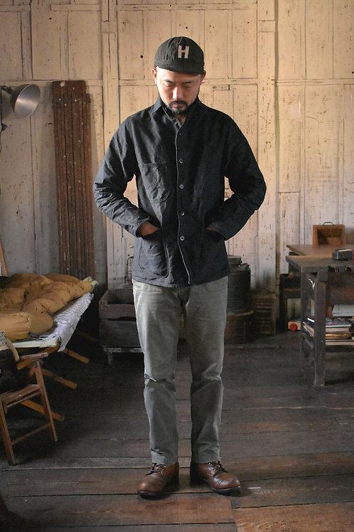 "Coverall jacket ""003"" Black dye"