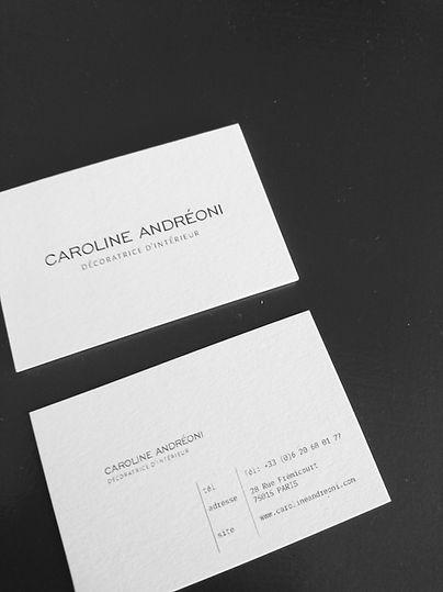 Creation De Cartes Visite Pour Caroline Andreoni Decoratrice Dinterieur