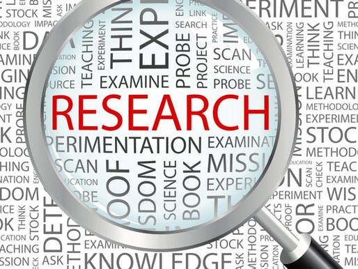 It's all about the research!!!