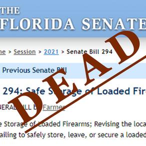 Florida Senate Bills S 294 and S 428 — dead on arrival