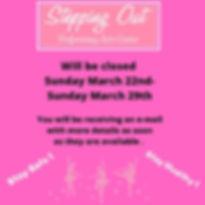 Will be closed Monday March 16th-Saturda