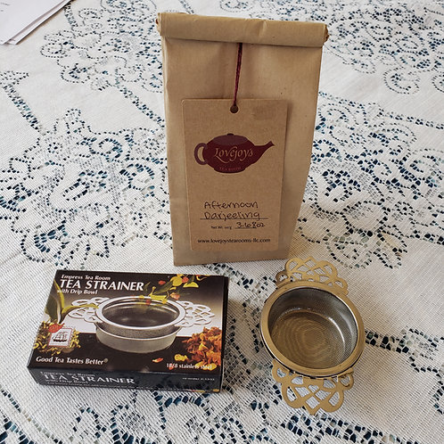 TEA AND STRAINER PACKAGE