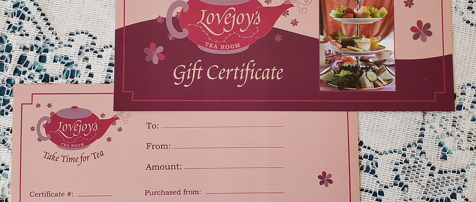 GIFT CERTIFICATES - $25 to 'The Sky's The Limit'