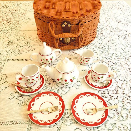 CHILDREN'S CHERRY TEA SET