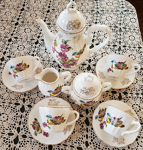 Spring Birds Tea Set